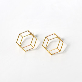 COMPOSITION earrings SUGAR CUBE / CP 303 (ピアス)