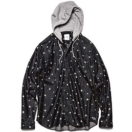 SOPH.uniform experiment - STAR DENIM HOODED SHIRT/ITEM NO. UE-178037