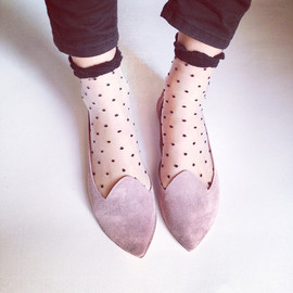 elehandmade - Pointy Old Pink Handmade Leather Loafers Slip on Shoes
