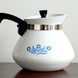 "Corning Ware - Corning Ware: ""Blue Cornflower"" tea pot"