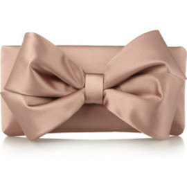 VALENTINO - bow satin clutch