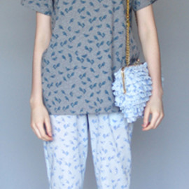 KAREN WALKER - Blue Birds Boat Pants