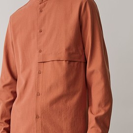 COS - Grandad Shirt With Pocket in Terracotta