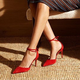 Aquazzura - Aquazzura Heart Breaker Suede Pumps