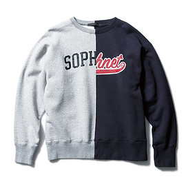 SOPHNET. - SPLIT LOGO CREW NECK SWEAT
