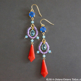 Ostara - Dangle Earrings10:52/Red