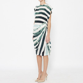 Dries Van Noten - White And Green Dress