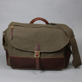 ARTS&CRAFTS - AGING CANVAS/FLAP SHOULDER/olive