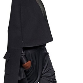 GIVENCHY - Nappa On Wool Drape Coat in Black