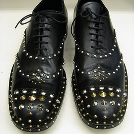 PRADA - studded leather shoes