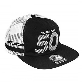 Benny Gold, Super Bowl 50, 47 Brand - NFL Super Bowl 50 Boutique Collection: Mission Black Mesh 47 snapback