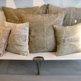Yves Andrieux & Vincent Jalbert - Antique Fabrics Cushion