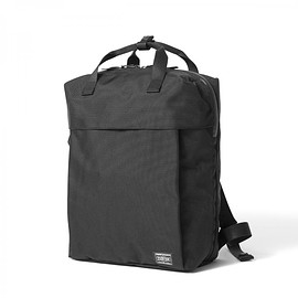 "HEAD PORTER - ""BLAU"" 2WAY BAG BLACK"