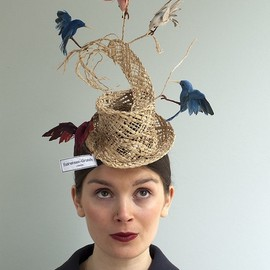 "Sara Grundy - ""Nesting Instinct"" - whimsical birds hat"