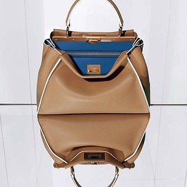 Fendi - Fendi Large Peekaboo Leather Satchel