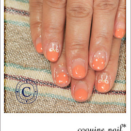 coquine nail - ribbon +dot