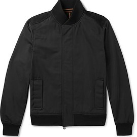 Berluti - Nubuck-Trimmed Tech-Shell Bomber Jacket