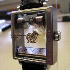 wearable sculpture - mysterious double axis tourbillon watch 01