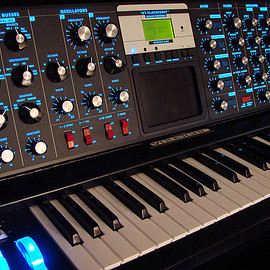 moog - moog voyager electric blue
