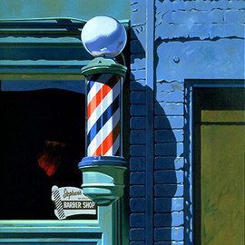 Robert Cottingham - Barber Shop