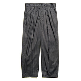 uniform experiment - PIN STRIPED 2TUCK WIDE TAPERD PANTS