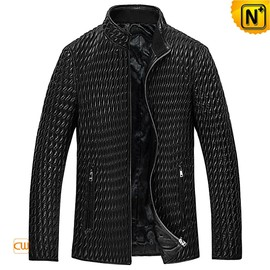 CWMALLS - Mens Quilted Leather Jacket CW850009