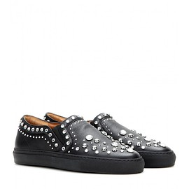 GIVENCHY - Embellished leather slip-on sneakers