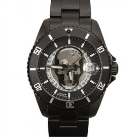 lucien pellat-finet - 2013/SS Steel Skull Watch Black