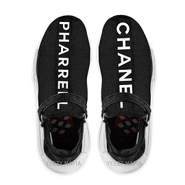 CHANEL, adidas, Pharrell Williams - Human Race NMD Trail - Black/White