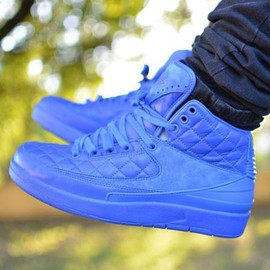 Nike - JUST DON × NIKE AIR JORDAN 2 RETRO DON C BRIGHT BLUE/METALLIC GOLD-UNIVERSITY RED