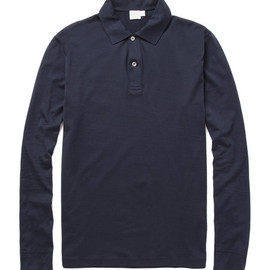 Sunspel - Long Sleeve Jersey Polo Shirt