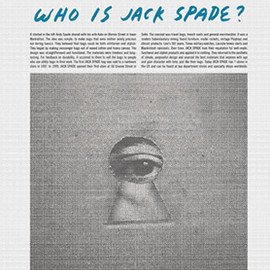 JACK SPADE - JOURNAL 2ND.ISSUE