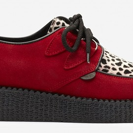 Underground - Wulfrun Single Sole Red Suede/Leopard Print
