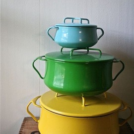 Dansk - Vintage Dansk Kobenstyle Enamel Cookware via blueflowervintage on Etsy
