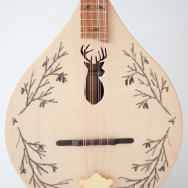 Celentano Woodworks - deer head   flat top/back mandolin