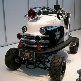 Lusse Auto-Scooter 1953 Police car vl