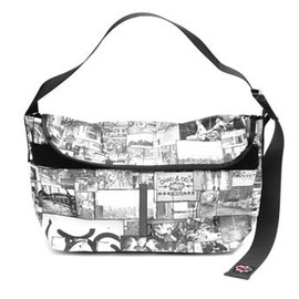 CHARI & CO NYC - PORTER & CHARI - STANTON COLLAGE MESSENGER BAG MED