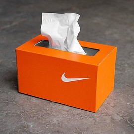NIKE, KevinConcepts - TisShoe Box - Orange/White