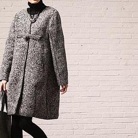 wool coat - winter Plus size Loose wool coat/ light gray
