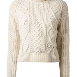 CHANEL - Vintage cropped cable knit sweater