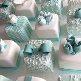 Mini Tiffany Wedding #Cakes
