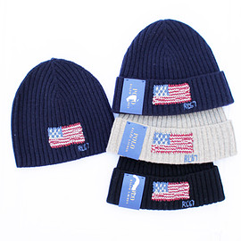 POLO RALPH LAUREN - US Flag Lambswool Knit Cap