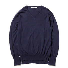 nonnative - DWELLER V SWEATER - GIZA 45 COTTON SOLID