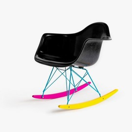 "The Hundreds X Modernica - The Hundreds X Modernica ""CMYK"" Fiberglass Arm Shell Rocker"