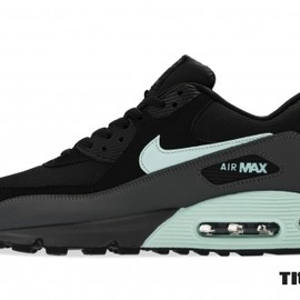 Nike - Nike Air Max 90 Essential Black/Mint Candy-Dark Grey