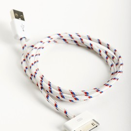 Eastern Collective - Double Stripe Collective Cable - Red/White/Blue