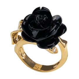 Dior JOAILLERIE - ROSE DIOR PRE CATELAN yellow gold and onyx