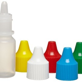 Nalgene - LDPE Dropper Bottle, with Assorted Colored Polypropylene Closure, Lab Pack
