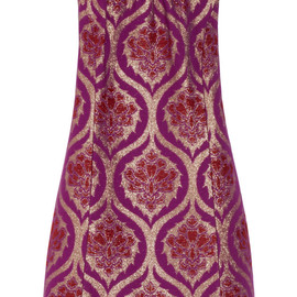 ANNA SUI - Metallic jacquard mini dress