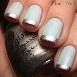 Metallic French Nails